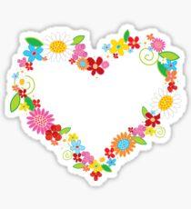 Whimsical Spring Flowers Power Garden Sticker