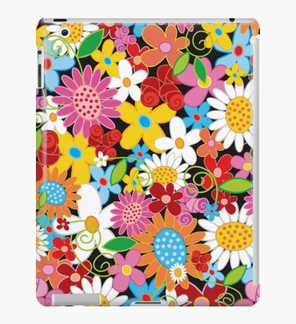 Whimsical Spring Flowers Power Garden iPad Case/Skin