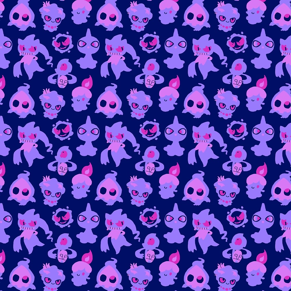Quot Ghost Pokemon Pattern Quot By Knightofbunnies Redbubble