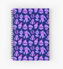 Ghost Pokemon Pattern Spiral Notebook
