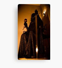Mysteriously cloaked person  Canvas Print