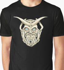 Horned Skull (color) Graphic T-Shirt