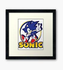 Sonic the Hedgehog Framed Print