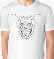 Horned Skull (black) Graphic T-Shirt