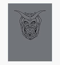 Horned Skull (black) Photographic Print