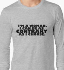 Downton Abbey Quotes    I'm a woman T-Shirt