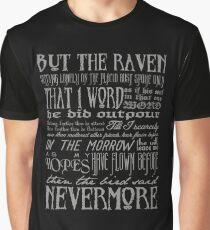 Edgar Allan Poe RAVEN typography Graphic T-Shirt