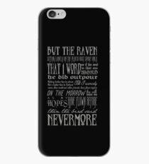 Edgar Allan Poe RAVEN Typografie iPhone-Hülle & Cover