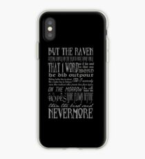 Edgar Allan Poe RAVEN typography iPhone Case