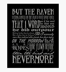 Edgar Allan Poe RAVEN typography Photographic Print