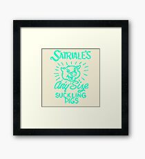 Satriale's - Any Size Suckling Pigs Framed Print