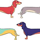 Dachshunds by Kelly King