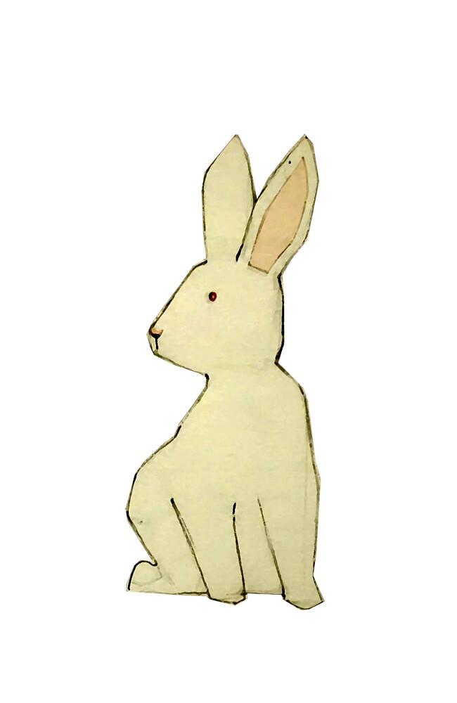 bunny thinking by JJCLart