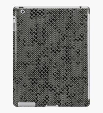 Tattered Silver Medieval Chainmail Armour Texture Background iPad Case/Skin