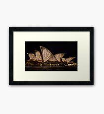 Fan Sails - Sydney Vivid Festival Framed Print