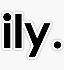 Ily - I love you Sticker