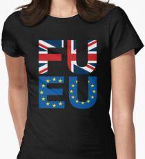 FU EU Anti - European Union T-Shirt  Womens Fitted T-Shirt