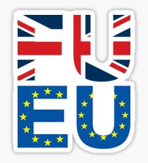 FU EU Anti - European Union T-Shirt  Sticker