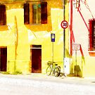 Fognano: view with bicycle by Giuseppe Cocco