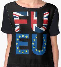 FU EU Anti - European Union T-Shirt  Women's Chiffon Top