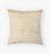 Page 1 of the United States Constitution Throw Pillow