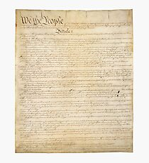 Page 1 of the United States Constitution Photographic Print