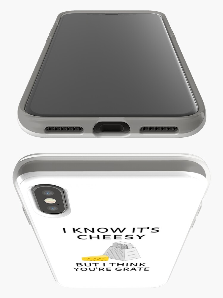 Alternate view of I Know It's Cheesy But I Think You're Grate iPhone Case & Cover