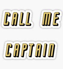 Call Me Captain: gold version Sticker