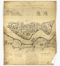 Original West Point Survey Map October 24th-27th 1783 Poster