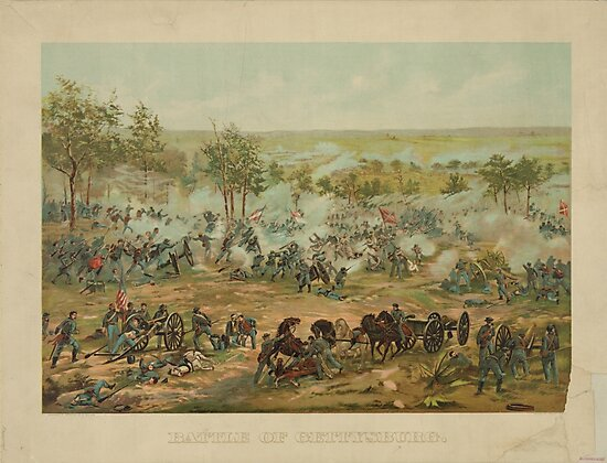 Battle of Gettysburg by Paul Philippoteaux (1898) by allhistory