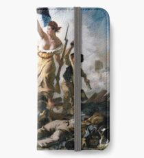 Liberty Leading the People by Eugène Delacroix (1830) iPhone Wallet/Case/Skin