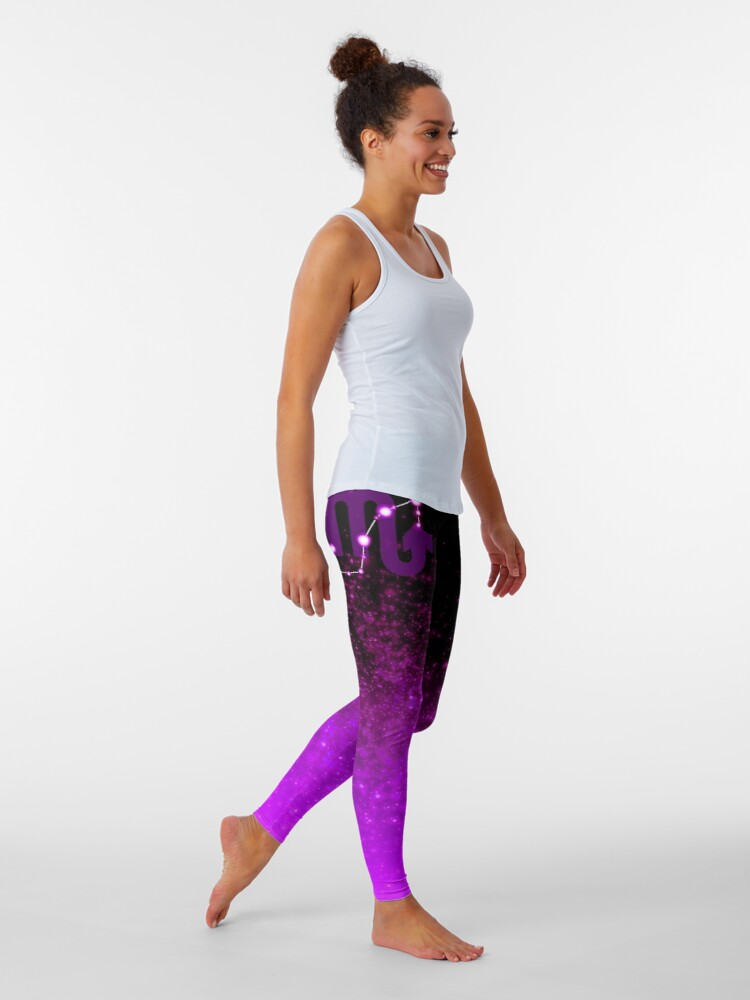 Alternate view of Scorpio - Purple Leggings