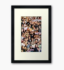 Gillian Anderson and David Duchovny collage Framed Print