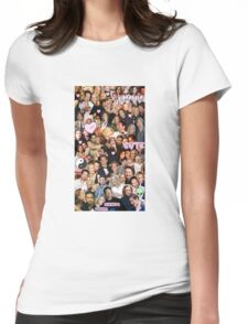 Gillian Anderson and David Duchovny collage Womens Fitted T-Shirt