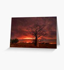 Boabs and Bushfires  Greeting Card