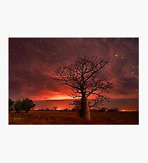 Boabs and Bushfires  Photographic Print