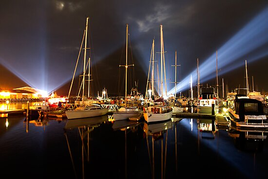 Marina Lights - Dark Mofo 2014 by clickedbynic