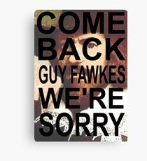 Come Back! Canvas Print