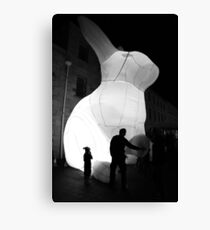 Dark mofo bunny Canvas Print