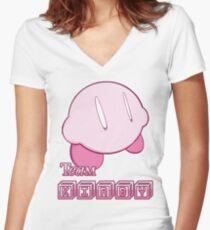 Team Kirbyy Women's Fitted V-Neck T-Shirt