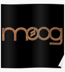 Rusty vintage moog synth Poster