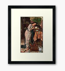 William Holman Hunt - Isabella And The Pot Of Basil 1867 Framed Print