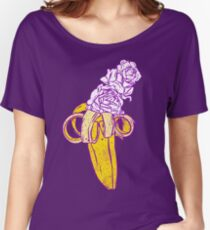floral banana Women's Relaxed Fit T-Shirt