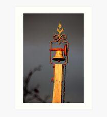 Church bell, Hill End Art Print