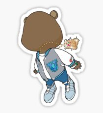 Kanye West Teddybear Graduation  Sticker