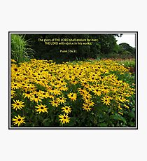 The Glory of the Lord - Floral Vignette Photographic Print