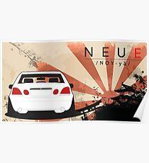 Lexus GS300 / Toyota Aristo Japanese Rising Sun Poster
