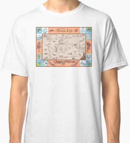 Ancient Marine Life map Classic T-Shirt