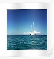 Sailing Ship on the Mediterranean Sea Poster