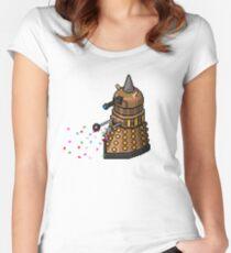 Birthday Dalek - Pixel Art Women's Fitted Scoop T-Shirt